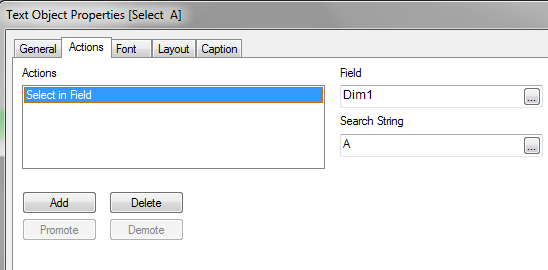 Using Actions to Select Field Values