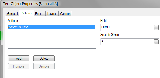Select Dim1: A*
