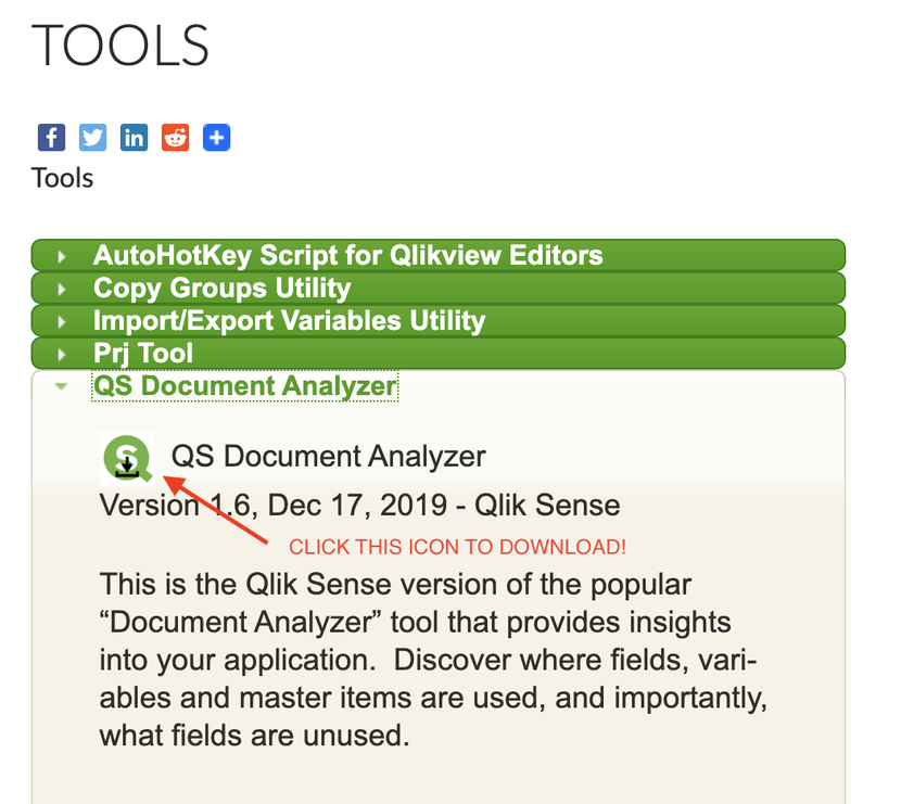 Qlik Sense Document Analyzer v1.6