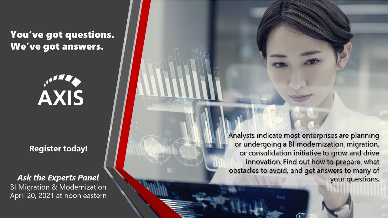 Live Ask the Expert Panel on BI Modernization